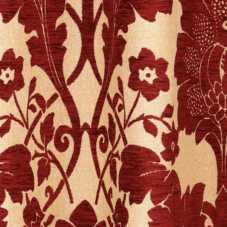 Cortina Medieval Flores Rojas